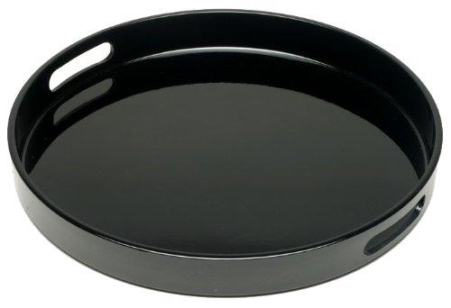Round Lacquer (Kotobuki Black Lacquer Serving Tray, 13-1/2-Inch)