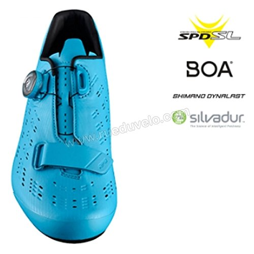 Shimano Shrp9pc470sb00 Uomini Della Scarpa Da Tennis Ciclismo, 47, Blu,