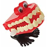 Wind Up Chattering Vampire Fangs Halloween Monster Hopping Teeth With Eyes (12)