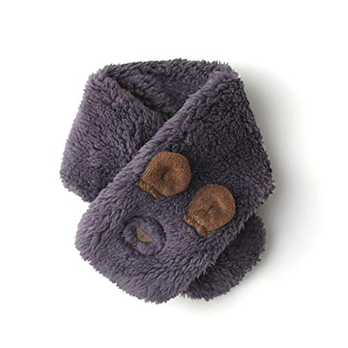 ZDD Autumn Winter Men Women Baby Imitation Lambskin Baby Warm Scarf (Color : Purple, Size : 9.6x53cm)