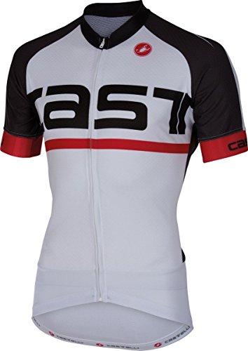 Castelli Meta Jersey FZ Medium White/Anthracite