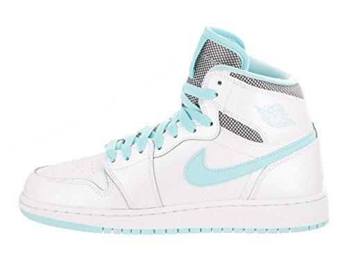 Nike Air Jordan 1 Retro High GS - 332148106 - Colore: Bianco-Celeste - Taglia: 38.5