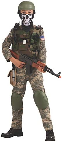 CAMO TROOPER SOLDIER MILITARY ARMY COMANDO BOOK WEEK DRESS UP HALLOWEEN COSTUME