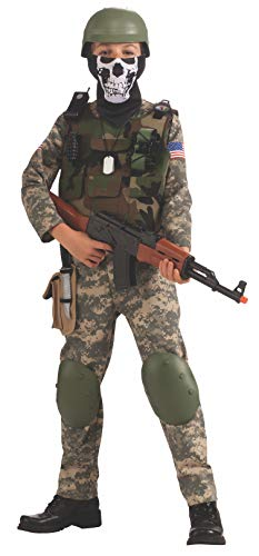 Military Dress Up Costumes (Camo Trooper Value Costume, Child's)