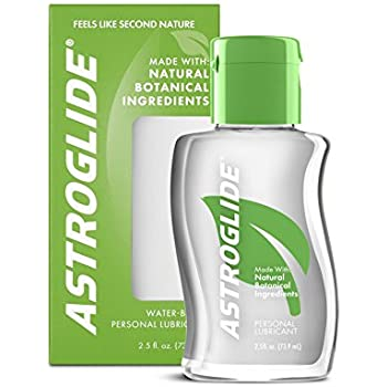 astroglide natural water based personal sex lubricant 2 5oz