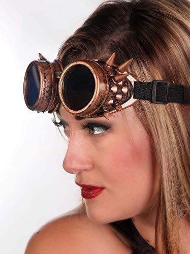 Arsimus Steampunk Spike Reflective Festival Rave Goggles