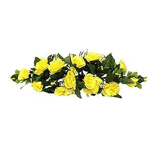 Rose Swags MANY COLORS Silk Wedding Flowers Chuppah Arch Gazebo Centerpiece 9