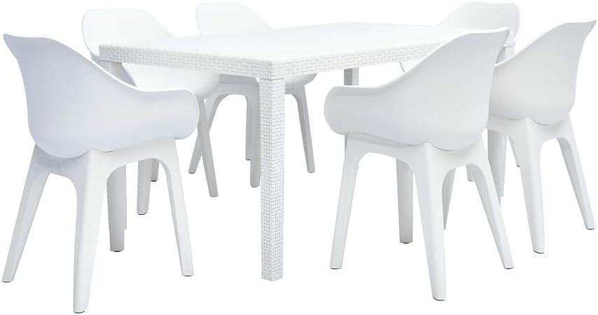 Tidyard L\'Ensemble de Bistrot 7 Pcs (1 Table + 6 chaises ...
