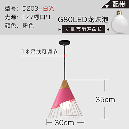 HUANGXIN&RAN Restaurant Lights Chandeliers Three Color Solid Wood Chandeliers Iron Study Chandeliers Living Room Bedroom Led - Ran Shades