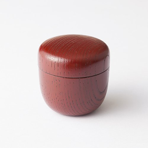 TOKYO MATCHA SELECTION - [VALUE] Oshima: KABUKI NATSUME - 2 Color - Tea Caddy Storage Canister Lacquareware from Ishikawa [Standard ship by Int'l e-packet: with Tracking & Insurance] (Red - - Epacket Shipping Tracking