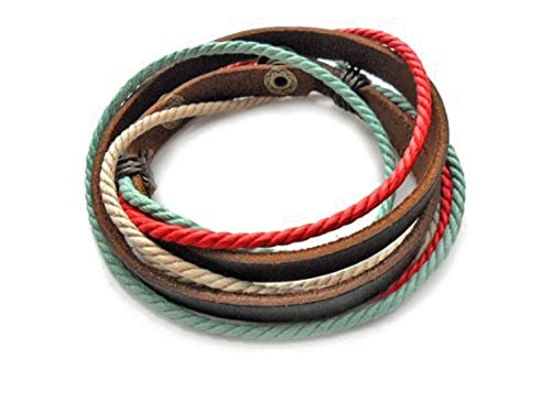 Fashion Adjustable Fashion Multilayer Weaved Leather Cotton Rope Wrap Bracelet Friendship Gift Weaved Friendship Bracelet