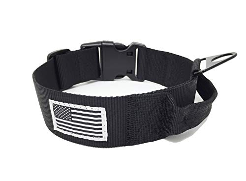 Large Tactical Dog Collar with Handle 1.5