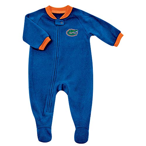 (Pro Edge Infants NCAA University of Florida Gators Fleece Blanket Sleeper Foot Pajamas (Florida Gators, 6-9 Months))