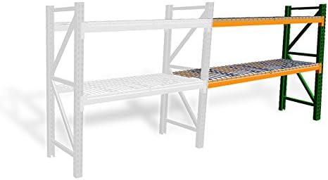 Pallet Rack Adder Kit w Wire Deck – 48 D x 120 W x 144 H