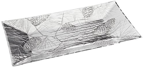 Wendell August Small Evergreen Horizon Tray, Beautiful Winter Décor, Handmade in The USA Forge