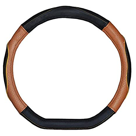 Amazon Com Black And Brown Color D Ring Genuine Leather Steering
