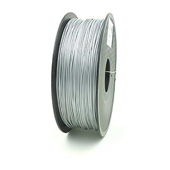 SIENOC 1 paquete de filamento impresora 3D ABS 1.75mm Impresora - Con 1 kg de carrete (Plata)