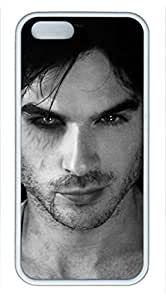 2015 popular iCustomonline Case for iPhone 5S (TPU) White, Vampire Diaries Ultimate Protection Case for iPhone 5S (TPU) White