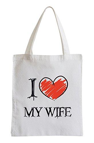 I Love My Wife Divertimento sacchetto di iuta