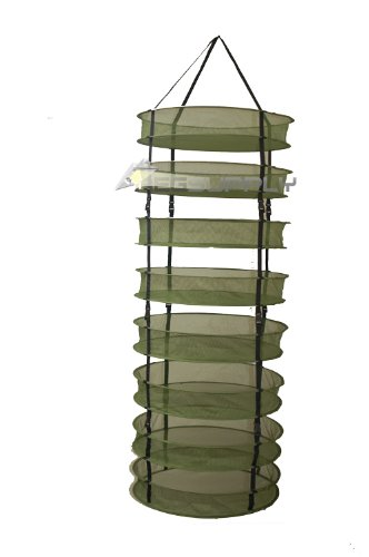 GROW1 2-Ft Plant Crop Harvest Drying Fabric Tiered Dry Rack Nets (Clips)