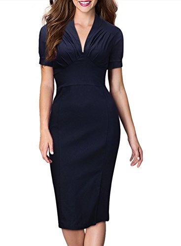 Fashion Deep V-neck Lantern Sleeves Fold Tall Waist Elast...