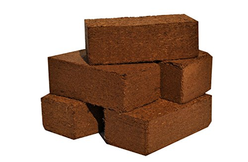 Peat Brick - CoirPlus Premium Coco Peat [OMRI Listed]: 1.1 lbs / 500 gms (14 Pack);100% Natural and Organic Soil-less Growing Media
