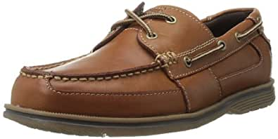 Rockport Men's Boatini Boating Shoe,Tan Leather,8 W US