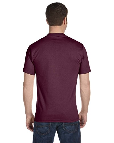 hanes-mens-comfortsoft-t-shirt-2-maroon-2-deep-forest-l-pack-of-4