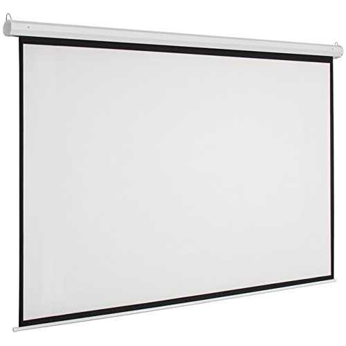 Crazyworldstore 100 inch 16 9 matte white 4k home theater for Motorized drop down projector screen