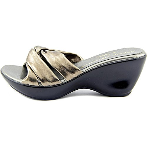 Callisto Womens Gaylenn Open Toe Casual Slide Sandals Pewter sQ2Kgs8M