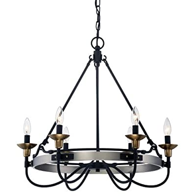"Quoizel CTH5006 Castle Hill 6 Light 25"" Wide Chandelier,"