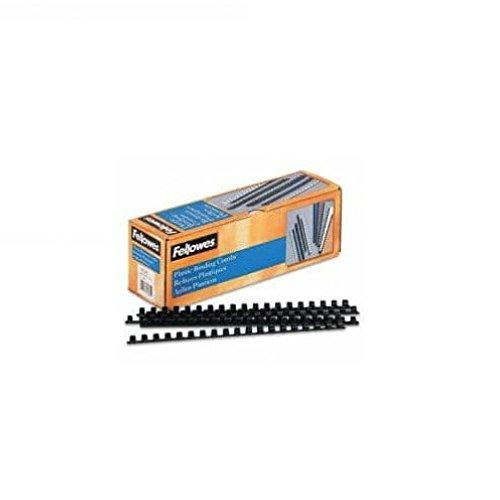 Fellowes Plastic Comb Bindings, 3/8 inch Diameter, 55 Sheet Capacity, Black, 100 Combs/Pack