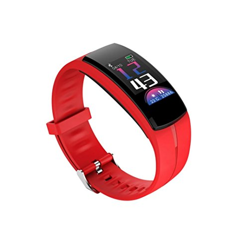 Ounice Smartwatch Fitness Tracker QS100 Calorie Blood Pressure Exercise Heart Rate Pedometer Smart Watch (Red) by Ounice (Image #2)