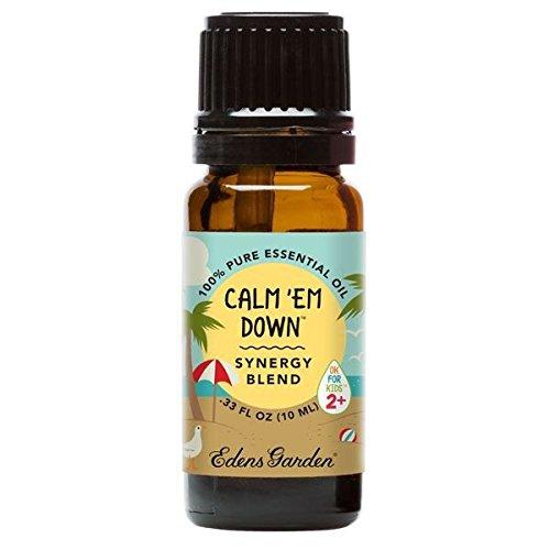 Edens Garden Calm 'Em Down Ok for Kids Synergy Blend Essential Oil (Douglas Fir, Petitgrain, Lavender, Sweet Orange, Vetiver, Damiana and Vanilla), 10 mL]()
