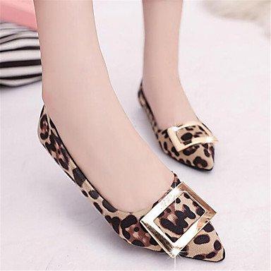 Cómodo y elegante soporte de zapatos de las mujeres pisos de primavera/verano/otoño/invierno forro de confort/Flats oficina y carrera/casual Flat Heel otros gris