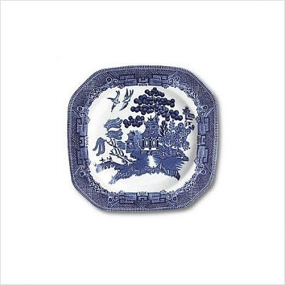 Johnson Brothers Willow Blue Dinnerware 7 3/4-Inch Square Salad Plates, Set of 4