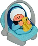 Baby in Car Seat Christmas Ornament (Blue Boy DIY)