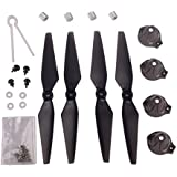 YouCute spare parts for mjx B2C B2W B2 Bugs 2w Bugs 2 RC Drone Blade Aluminum cap (Black large kit)