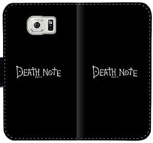 Illust nota de la muerte de dibujos animados caso mínimo D8K4X Funda Samsung Galaxy S6 Cartera de cuero funda t205fI personalizados fundas caso del tirón del teléfono celular