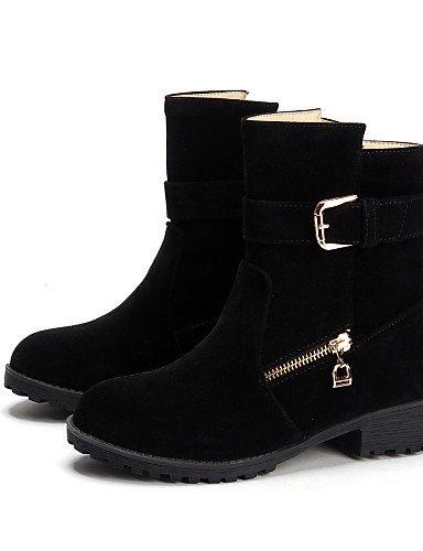 Fleece Stiefel Citior Damen Ferse Rund Beute Beute Stiefel Chunky Fashion Schuhe Casual Damen pXpqx1w6U