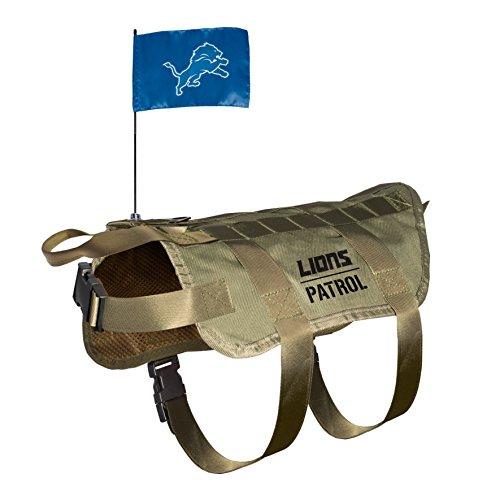 NFL Detroit Lions Pet Tactical Vest, Medium/Large