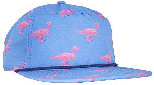 [CRSHR Dinosaur Print Strapback Hat in Blue/Pink] (Dinosaur Hats)