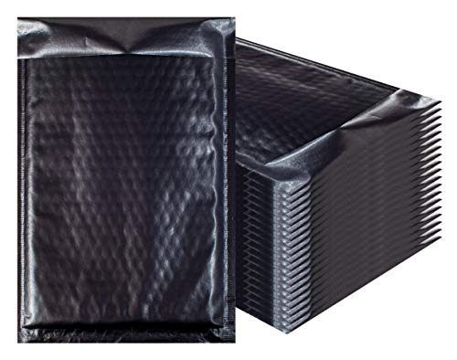 - Bubble mailers 7.25 x 11. Padded envelopes 7 1/4 x 11 by Amiff. Pack of 20 Matte Black Cushion envelopes. Exterior Size 8x12 (8 x 12). Peel & Seal. Glamour Metallic foil. Mailing, Shipping, Packing.