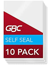 Swingline GBC SelfSeal Self Adhesive Laminating Pouch, Wallet Size, 8 Mil, 10 Pack (3745685)