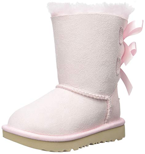 Ugg Girls Bailey Bow (UGG Girls' T Bailey Bow II Fashion Boot, Seashell Pink, 8 M US)