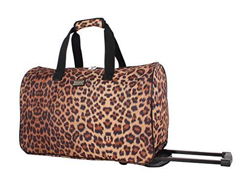 Steve Madden Luggage Suitcase Wheeled Duffle Bag (Cool Cat)