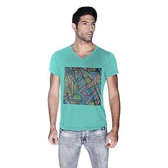 Creo Abstract 02 Retro T-Shirt For Men - S, Green
