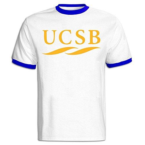 (Men's University Of California Santa Barbara UCSB Logo Baseball Tee Shirt)