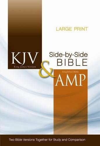 KJV, Amplified, Parallel Bible, Large Print, Hardcover, Red Letter Edition: Two Bible Versions Together for Study and - Majestic Amplifier