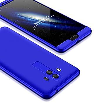 hyujia Compatible Huawei Mate 10 Funda(2018) Carcasa 360° Ultra Fina Protectora cojín+Vidrio Templado Pantalla Protector,3 in 1 PC Hard Caja Caso Skin ...